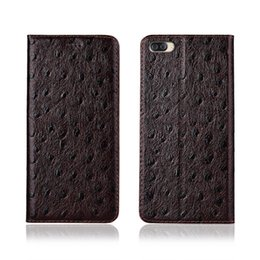 case flip asus zenfone Canada - Ostrich Texture Phone Case For Asus ZenFone 4 Max ZC554KL Genuine Cowhide Leather Flip Card Phone Case For Asus ZenFone 4 Max ZC554KL Case
