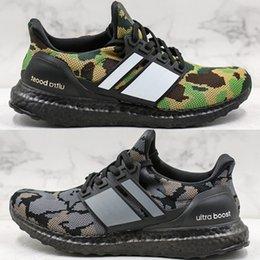 Discount boost pack High Quality Ape Ultra Boost Camo Pack Shoes 2019 New Fashion Men Ultraboost UB Black Grey Green PK Sneakers Size 40-44