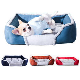 housing materials Canada - et Dog Bed Warming Dog House Soft Material Nest Dog Baskets Fall and Winter Warm Kennel For Cat Puppy Plus size free shipping