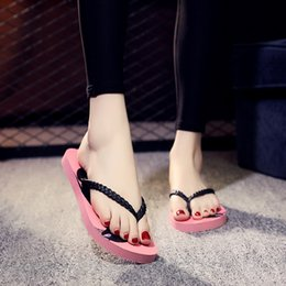 $enCountryForm.capitalKeyWord Australia - Summer New Fashion Slippers Flip Flops Sequins Tassels Flowers Pattern Platform Shoes Woman Ladies Girls Love Stock in