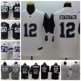 2019 New Mens 12 Roger Staubach Dallas Jersey Cowboys Football Jersey 100% Stitched  Embroidery 50 Sean Lee Color Rush Football Shirts 880ed1904