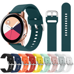 samsung smart watches Australia - Silicone strap For Samsung Galaxy watch 42mm 46mm luxury designer multicolor solid color Square hole buckle strap for samsung smart watches