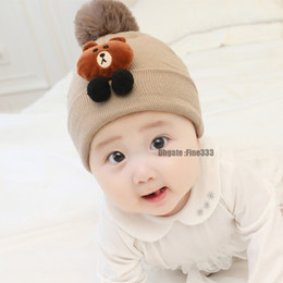 BaBy girl knitting Beret hat online shopping - 2 Hat And Scarf Set Cap And Chimney Warm Baby Knit Hat Boy Girl Hat Scarf Winter Accessories Beanie Skullies Gorro