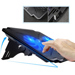 Usb cooling stand online shopping - VIPATEY L2 USB Laptop Cooling Pad Five Adjustable Angles USB Cooler Fan Cooling Stand With Led Light For Notebook