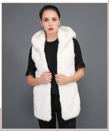 white horse hair Australia - Imitation rabbit fur coat hoodhane-style body-length mink hair sleeveless warm fur fur horse armor lady T191101