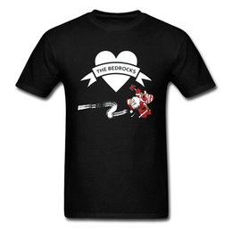 music man guitars Australia - Bedrocks Rock Santa Father Christmas Guitar T Shirts Techno Xmas Rock Music Electric Guitar Tshirts Black Good Quality Men
