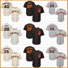 70f70c586 San Francisco Baseball Jersey Giants 28 Posey 22 Will Clark 35 Brandon  Crawford 40 Madison Bumgarner Jerseys