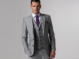 $enCountryForm.capitalKeyWord Australia - Wedding Groom Tuxedos (Jacket+Vest+Pants) Men Suits Custom Made Formal Suit for Men Wedding Bestmen Tuxedos Cheap