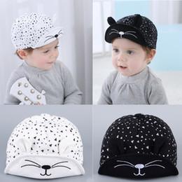 ea1a7ed37b Cat Ear Snapback For Children Lovely Baseball Cap Boy Girl Spring Eaves Hat  Breathable Cute Black White 8 8sl D1
