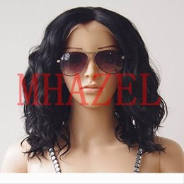 short styles for curly hair UK - MHAZEL Brazilian 100%Virgin Curly Bob Short Curly Style Full Lace Front Human Hair Wigs 150% For Black Women