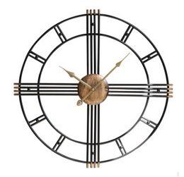 walls watches 2019 - Vintage Iron Wall Clock Creative European Metal Retro Wall Clocks Antique Style Home Living Room Decorative Watch 50cm 6
