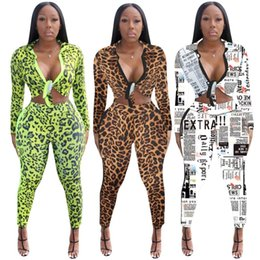$enCountryForm.capitalKeyWord Australia - Women jacket long sleeve pantsuit outfits 2 piece set designer tracksuit womens tops legging coat outerwear sexy cardigan leopard print 1968