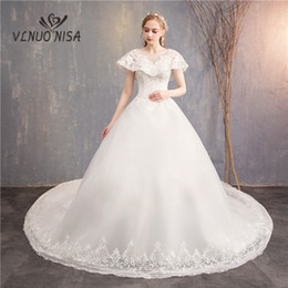 $enCountryForm.capitalKeyWord NZ - Ball Gown Wedding Dress VLNUO NISA High Grade Royal Train Lace Appliques Sequin Bridal Dress Vestido De Novias In Stock 20