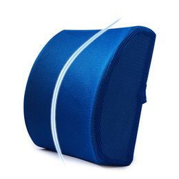 car pillows NZ - Soft Memory Foam Car Seat Winter Pillows Lumbar Support Back Massager Waist Cushion For Chairs Home Office Relieve Pain
