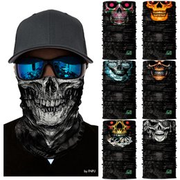 cycle bandana face mask Australia - 3D Seamless Tactical Skull Neck Gaiter Face Mask Head Shield Sport Camping Cycling Fishing Magic Bandana Headband Camo Headscarf