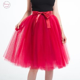 womens purple tutu Australia - 5 Layer 65Cm Knee Length Tulle Skirt Elegant Pleated Tutu Skirts Womens Vintage Lolita Petticoat Faldas Mujer Saia Jupe