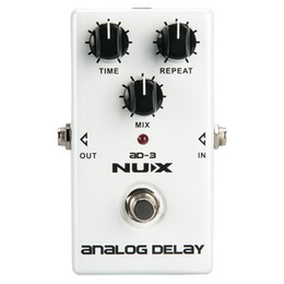 Echo Pedals Australia - NUX AD-3 Guitar Effects Pedal Analog Delay Effect Low Noise BBD Delay Circuit 20-300ms Delay time Warm and Smooth True Bypass