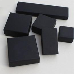 Großhandel XS High Archives Black Kraft Schmuck Verpackung Armband Halskette Ring Ohr Nagel Box Weihnachten Neujahr Geschenk Anpassen 6 Größe