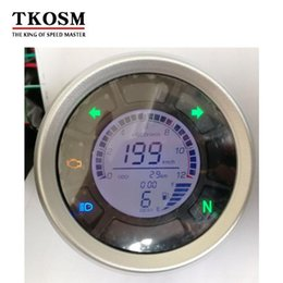 motorcycle digital tachometers UK - Tkosm 12000rpm Lcd Digital Motorcycle Instruments Odometer Speedometer Tachometer Adjustable Max 199km  H