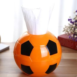 paper table roll Australia - Round Table Living Room Paper Towel Study Shop Tissue Box Home Decor Football Shape Bathroom Plastic Bedroom Restaurant Kitchen