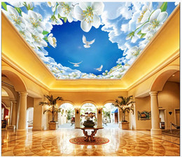 live wallpaper lily 2019 - Custom photo wallpapers 3d ceiling murals wallpaper zenith mural lily flower simple botanical flower ceiling background