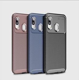 Discount iphone 6s carbon fiber case - Carbon Fiber TPU Cell Phone Cases For Iphone XS Samsung Galaxy A20E S10 Plus A60 A50 M30 LG G8 ThinQ Beatles Shockproof