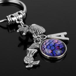 $enCountryForm.capitalKeyWord NZ - The Little Mermaid Inspired Keychain Women Jewelry Charms Pendants key ring Gothic Key Chains for Bags Key Holder