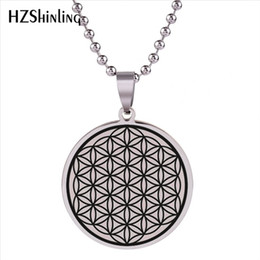 $enCountryForm.capitalKeyWord Australia - 2019 New Flower Of Life Stainless Steel Pendant Seed Of Life Jewelry Mandala Necklace Geometric Pattern Pendants Men Women HZ7