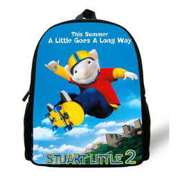 cute little backpacks Australia - Newest Comfortable Children Cartoon Bag Stuart Little Backpack Kids Boys Infantil Mini cute small mouse School Bags For Girls