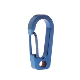 wall flashlight NZ - Titanium Alloy Carabiner Keychain Spring Flat Hole D Flashlight Buckle EDC Tool