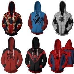 Homem-Aranha de ferro Moletom Com Capuz Vingadores Infinito Guerra Spiderman Venom Pullovers Casaco Com Zíper Jaqueta Cosplay Presente venda por atacado