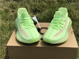 wide running shoes for women Australia - 2019 New 350s V2 Gid Glow In The Dark Eh5360 Kanye West Running Shoes For Men Women Black Fu9161 Clay Static Ef2905 Shoes Size 5-12