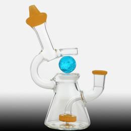 $enCountryForm.capitalKeyWord UK - Luminous ball glass water bong oil dab rig beaker nectar collection percolator bubblers 18cm tall new design luminous rotatable ball bongs