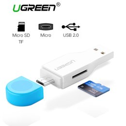 $enCountryForm.capitalKeyWord Australia - Ugreen Mini OTG Card Reader High Speed USB 2.0 Micro SD T-Flash TF Memory OTG Card Reader for Mobile Phone Tablet PC Card Reader