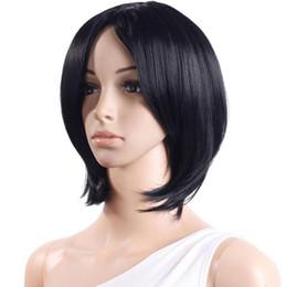 $enCountryForm.capitalKeyWord Australia - WIG Women high temperature silk Short Black Turnup Side Bang Hair Full Wig