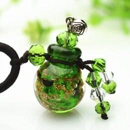 $enCountryForm.capitalKeyWord Australia - wholesale New 0.5ml Diffuser Perfume Glass Essential Oil Necklace Refillable Oil Bottle Pendant Noctilucent Necklace Wholesale