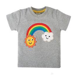 Letter Pattern For Shirts Australia - Kids Designer Clothes for Girls Tshirts 2019 Summer Hot Sale Girls Short Sleeve Shirt Rainbow Pattern Cute Tops Tee 2-7 T