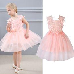 $enCountryForm.capitalKeyWord NZ - AiLe Rabbit Girls Lace Dresses Flower Gauze Princess Ponce Wedding Dress Party Dress Fashion Children's Clothing Apparel k1
