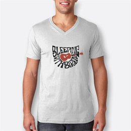 Black s guitar online shopping - New Fashion Hot Short Sleeping With Sirens Guitar New Style Crew Neck Tee Shirt For Men