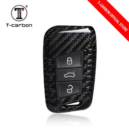 $enCountryForm.capitalKeyWord Australia - luxur Ceyes Car Styling Auto Key Shell Case For Volkswagen Polo Tiguan VW Passat Goif 7 For Skoda Cover Car-Styling 100% Carbon Fiber Acces