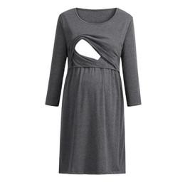 651e8f89667f6 Plus Size Nursing Clothing UK - Nursing Dress Women Elegant Long Sleeve  Autumn Breastfeeding Dress For