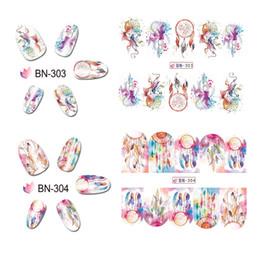 Owl nail art online shopping - 1 sheet Designs For Choose Water Transfer Nail Art Stickers Campanula Owl Patterns Decals JIBN301