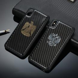 $enCountryForm.capitalKeyWord Australia - Carbon Fiber Metal Eagle Case For iPhone XS Max XR XS X 8 8 Plus 7 7 Plus 6 6s