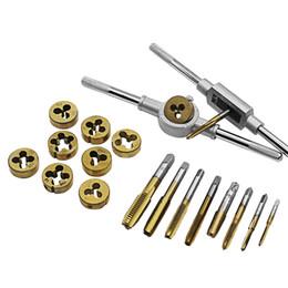 Thread Tapping Tools Australia - Tap Dies Set NC Screw Thread M3-M12 Plugs Taps Titanium plating Hand Screw Taps Hand Tools