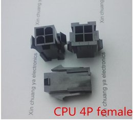 $enCountryForm.capitalKeyWord Australia - 50PCS 1LOT 4.2mm black white 4P 4PIN female for PC computer ATX CPU Power connector plastic shell Housing