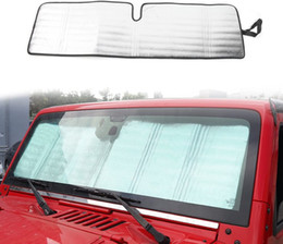 front windshield sun shade Canada - Front Windshield Sun Shade Aluminum Foil For Jeep Wrangler JK 2007-2017 TJ 1997-2006 Auto Interior Accessories