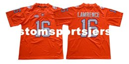 Football Jersey Orange Men NZ - Cheap custom Trevor Lawrence Jersey #16 Clemson Tigers Football jersey- Orange Stitched Customize any number name MEN WOMEN YOUTH XS-5XL