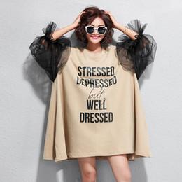 $enCountryForm.capitalKeyWord Australia - New Summer Fashion Gauze Hollow Out Lantern Sleeve Loose Big Size Women Dresses Top Quality Casual Knee-length Dress T6228
