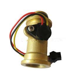 Hall flow sensor online shopping - Water heaters flow meter sensors Hall pulse flowmeter for Drinking fountains water dispenser G1 L min MPa DC3 V