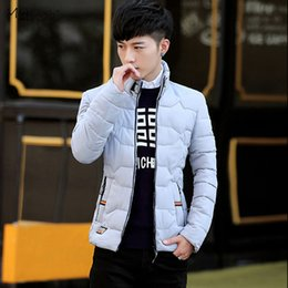 Simple Clothes NZ - Parkas Men Large Size Simple All-match Zipper Leisure Pockets Winter Thicker Warm Clothing Mens Hombres Ropa 2018 Outerwear Chic